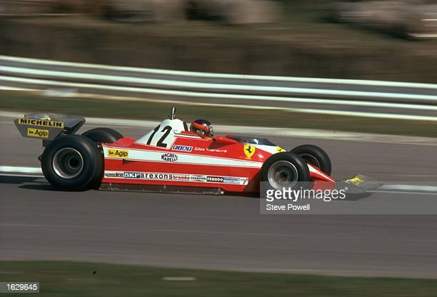 Gilles Villeneuve of Canada in action in his Scuderia Ferrari during a Formula One race Mandatory Credit Steve Powell/Allsport
