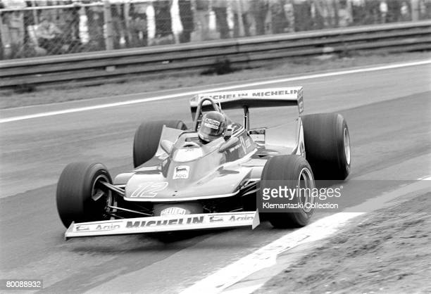 Gilles Villeneuve racing his Ferrari during a practice session at the Belgian Grand Prix, Zolder, 13th May 1979.