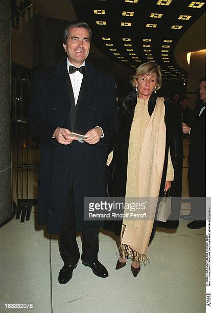 Gilles Weil and a friend La Boheme Gala at the Bastille Opera of Paris