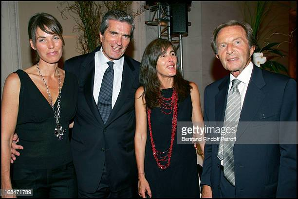 Gilles Weil and his wife Gerald Asaria and his wife inauguration dinner for the nave Marcel BleusteinBlanchet at the museum of ornamental arts for...