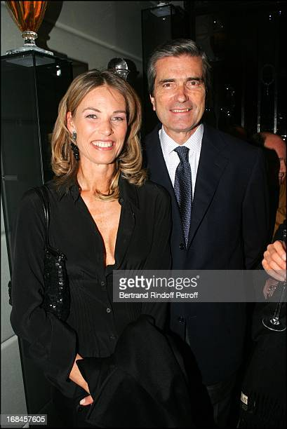 Gilles Weil and Tina Wincheind at Lancome Unveils New Paris Boutique