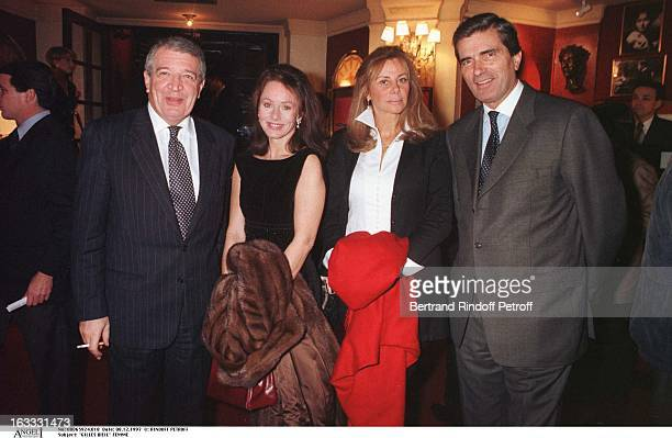 Gilles Weil and wife at thePreview Of La Dame Aux Camelias In Paris