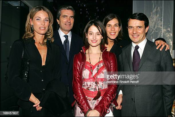 Gilles Weil Tina Wincheind Marie Gillain Marc Mesnesguen and wife Vanessa at Lancome Unveils New Paris Boutique