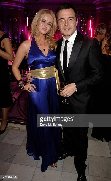 Gillian and Shane Filan attend the cocktail party during The Pink Ice Ball In Aid Of Cancer Research UK at The Waldorf Hilton Hotel on October 5 2007...