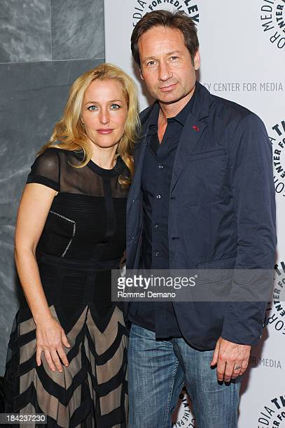 Gillian Anderson and David Duchovny attend The Truth Is Here David Duchovny And Gillian Anderson On The XFiles at The Paley Center for Media on...