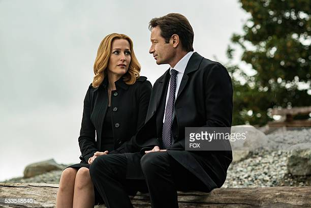 Gillian Anderson and David Duchovny in the Home Again episode of THE XFILES airing Monday Feb 8 on FOX