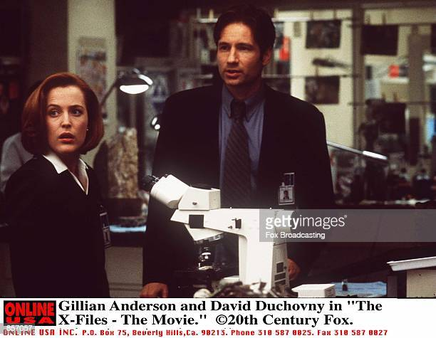 Gillian Anderson and David Duchovny in The XFiles The Movie