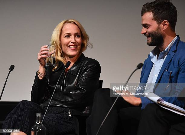 Gillian Anderson and Jamie Dornan take part in QA following the screening of BBC Two drama 'The Fall' to launch series three at BFI Southbank on...