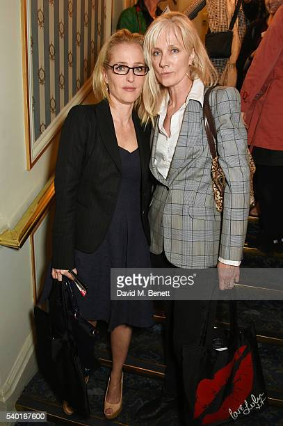 Gillian Anderson and Joely Richardson attend the 'People Places Things' Charity Gala in aid of Action On Addiction at Wyndhams Theatre on June 14...