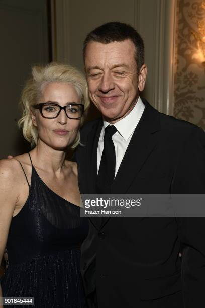 Gillian Anderson and Peter Morgan attend the 18th Annual AFI Awards at Four Seasons Hotel Los Angeles at Beverly Hills on January 5 2018 in Los...