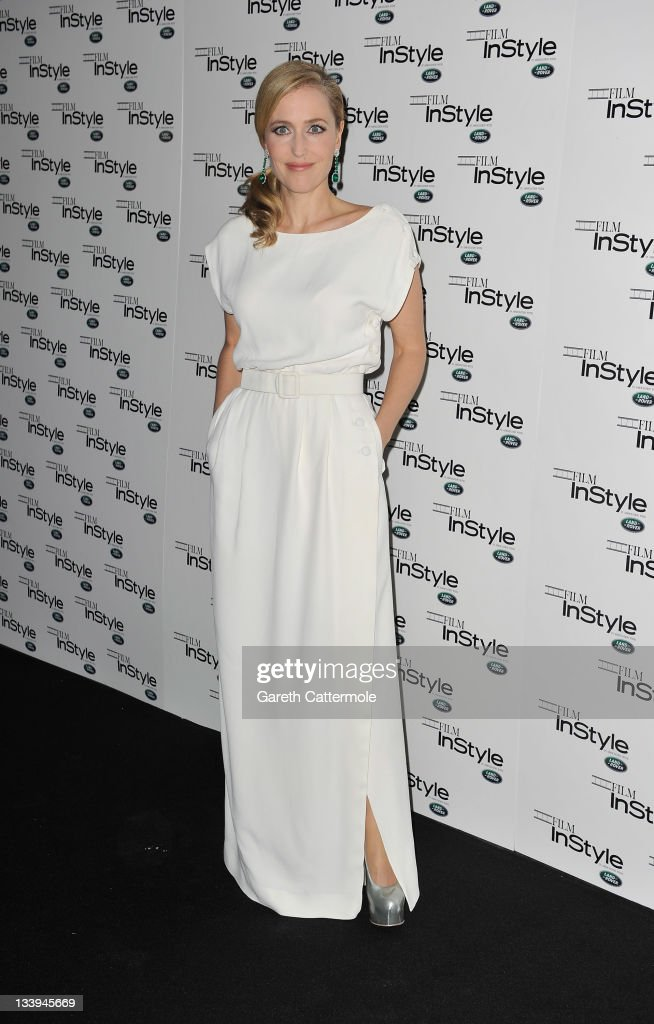 Gillian Anderson arrives at 'Film InStyle' in association with Land Rover celebrating InStyle Magazine's 10th Anniversary at The Sanctum Soho Hotel on November 22, 2011 in London, England.
