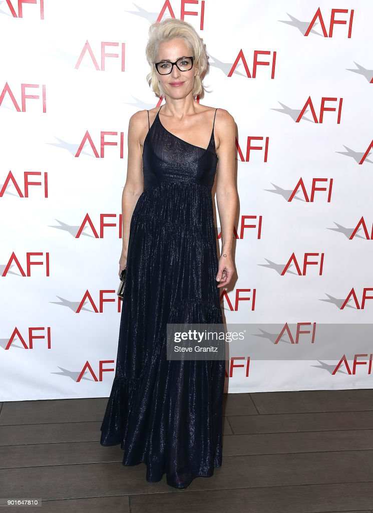 Gillian Anderson arrives at the 18th Annual AFI Awards on January 5, 2018 in Los Angeles, California.