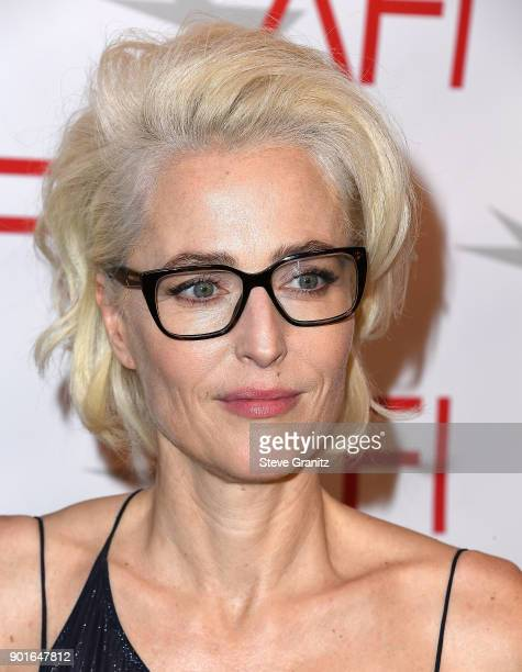 Gillian Anderson arrives at the 18th Annual AFI Awards on January 5 2018 in Los Angeles California