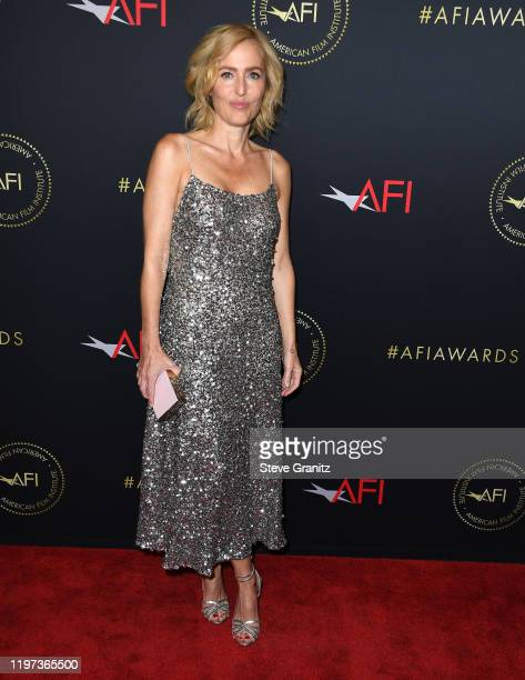 Gillian Anderson arrives at the 20th Annual AFI Awards at Four Seasons Hotel Los Angeles at Beverly Hills on January 03 2020 in Los Angeles California