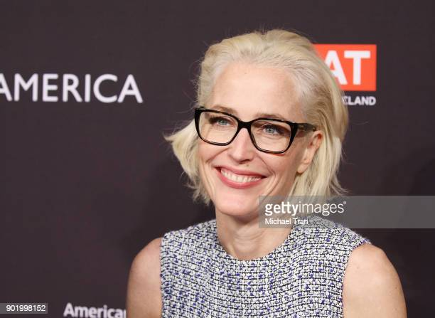 Gillian Anderson arrives at The BAFTA Los Angeles Tea Party held at Four Seasons Hotel Los Angeles at Beverly Hills on January 6 2018 in Los Angeles...