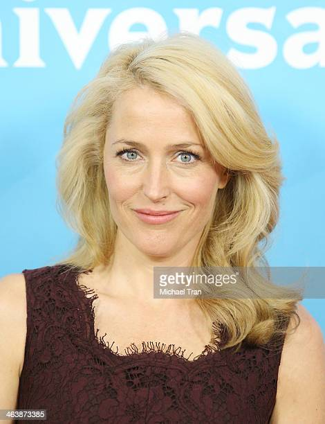 Gillian Anderson arrives at the NBC/Universal 2014 TCA Winter press tour held at The Langham Huntington Hotel and Spa on January 19 2014 in Pasadena...