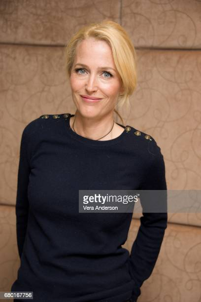 Gillian Anderson at the American Gods Press Conference at the May Fair Hotel on May 3 2017 in London England