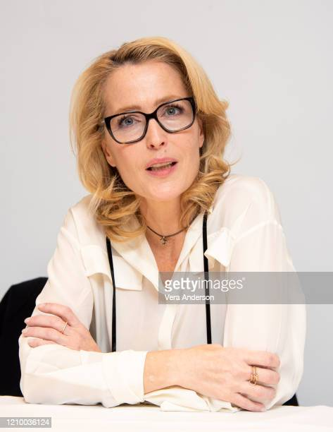 Gillian Anderson at the The Crown Set Visit at undisclosed location on March 02 2020 in London England