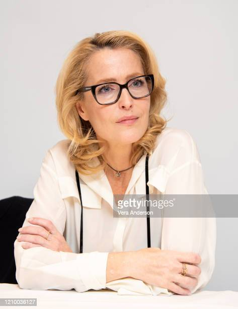 "Gillian Anderson at the ""The Crown"" Set Visit at undisclosed location on March 02, 2020 in London, England."
