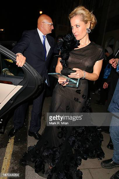 Gillian Anderson attending the Harper's Bazaar Women of the Year Awards on November 5 2013 in London England