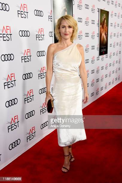 Gillian Anderson attends AFI Fest The Crown Peter Morgan Tribute at TCL Chinese Theatre on November 16 2019 in Hollywood California