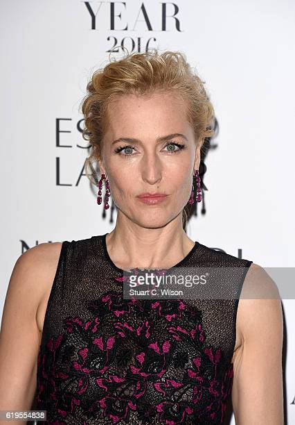 Gillian Anderson attends Harper's Bazaar Women Of The Year Awards at Claridge's Hotel on October 31 2016 in London England