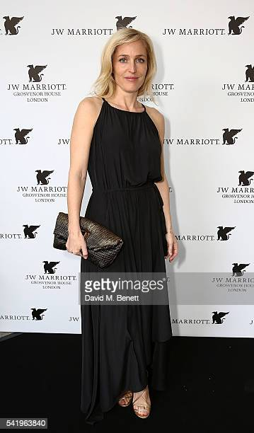 Gillian Anderson attends JW Marriott Grosvenor House English Summer Garden Party on June 21 2016 in London England