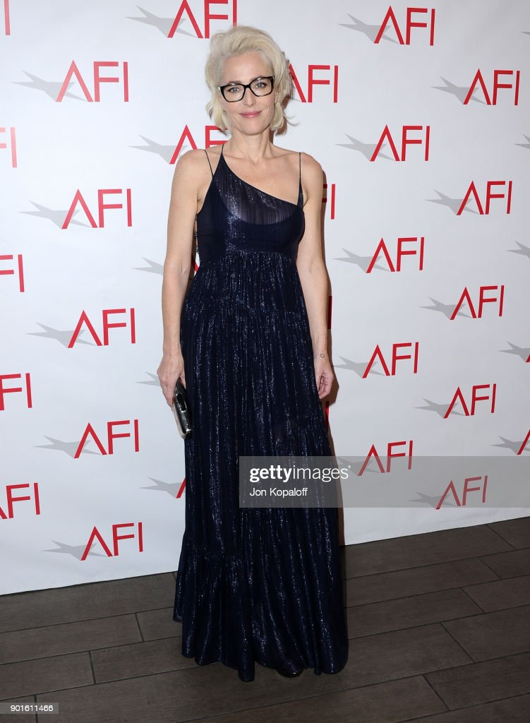 Gillian Anderson attends the 18th Annual AFI Awards at Four Seasons Hotel Los Angeles at Beverly Hills on January 5, 2018 in Los Angeles, California.