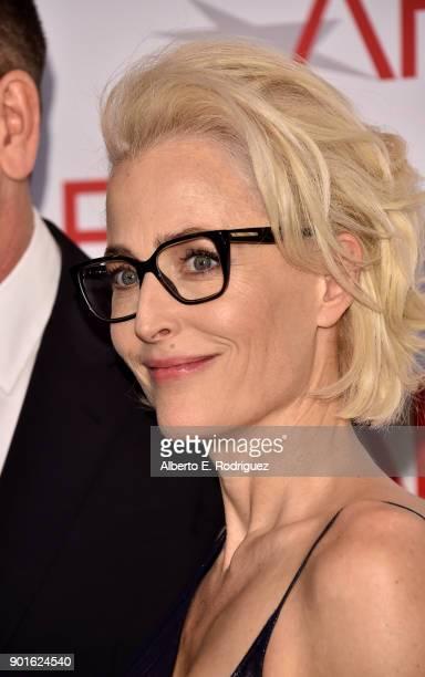Gillian Anderson attends the 18th Annual AFI Awards at Four Seasons Hotel Los Angeles at Beverly Hills on January 5 2018 in Los Angeles California