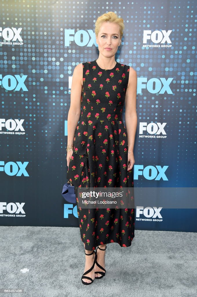 Gillian Anderson attends the 2017 FOX Upfront at Wollman Rink, Central Park on May 15, 2017 in New York City.
