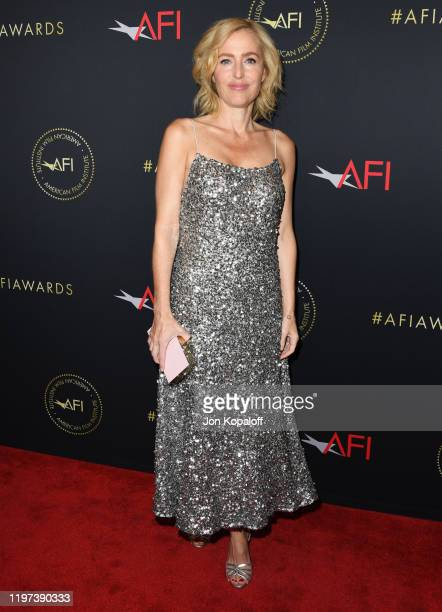 Gillian Anderson attends the 20th Annual AFI Awards at Four Seasons Hotel Los Angeles at Beverly Hills on January 03 2020 in Los Angeles California