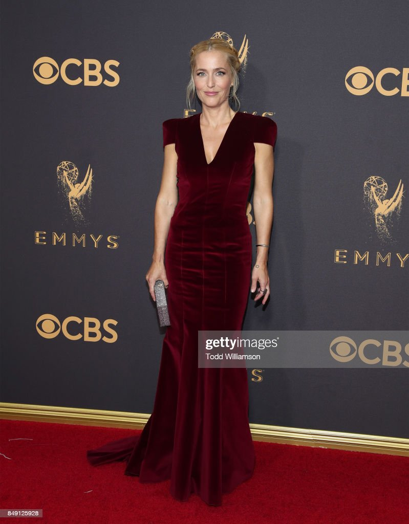 Gillian Anderson attends the 69th Annual Primetime Emmy Awards at Microsoft Theater on September 17, 2017 in Los Angeles, California.