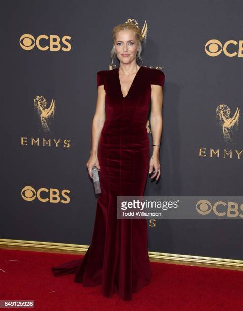 Gillian Anderson attends the 69th Annual Primetime Emmy Awards at Microsoft Theater on September 17 2017 in Los Angeles California