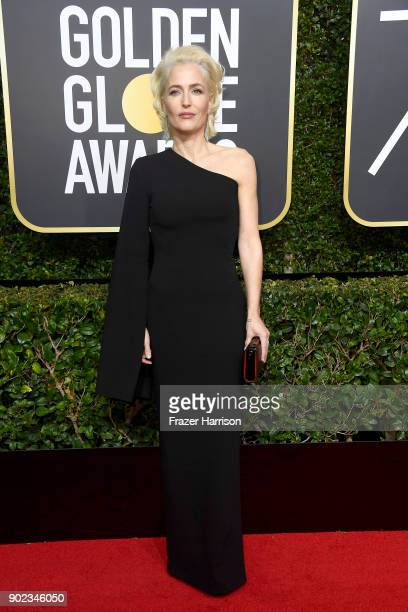 Gillian Anderson attends The 75th Annual Golden Globe Awards at The Beverly Hilton Hotel on January 7 2018 in Beverly Hills California