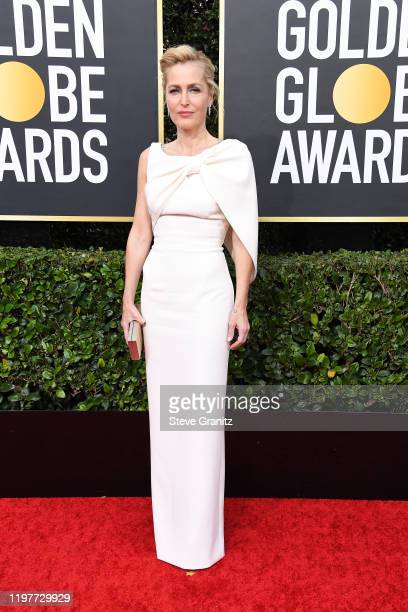 Gillian Anderson attends the 77th Annual Golden Globe Awards at The Beverly Hilton Hotel on January 05 2020 in Beverly Hills California