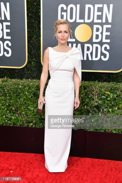Gillian Anderson attends the 77th Annual Golden Globe Awards at The Beverly Hilton Hotel on January 05, 2020 in Beverly Hills, California.
