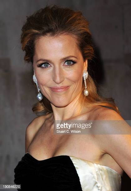 Gillian Anderson attends the awards for The 55th BFI London Film Festival at LSO St Lukes on October 26 2011 in London England