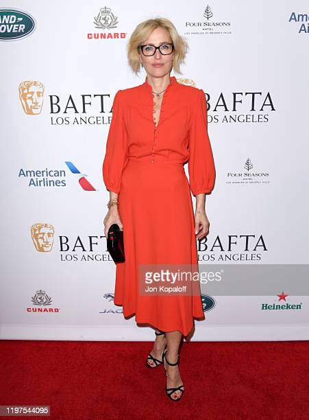 Gillian Anderson attends The BAFTA Los Angeles Tea Party at Four Seasons Hotel Los Angeles at Beverly Hills on January 04 2020 in Los Angeles...