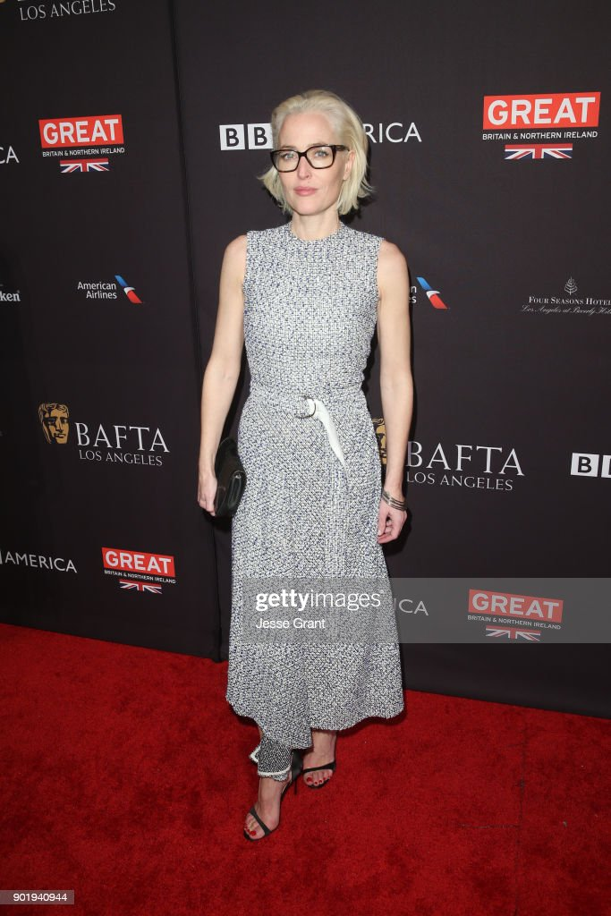 Gillian Anderson attends The BAFTA Los Angeles Tea Party at Four Seasons Hotel Los Angeles at Beverly Hills on January 6, 2018 in Los Angeles, California.