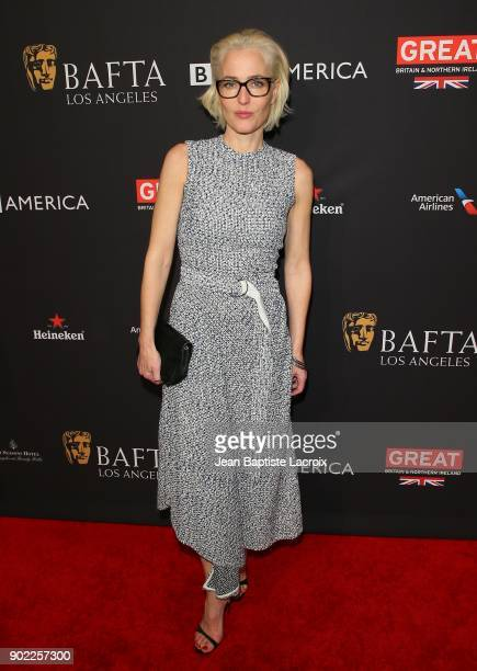 Gillian Anderson attends The BAFTA Los Angeles Tea Party at Four Seasons Hotel Los Angeles at Beverly Hills on January 6 2018 in Los Angeles...