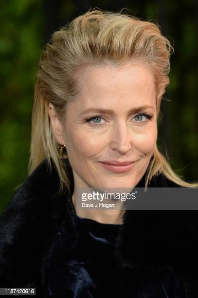 "Gillian Anderson attends ""The Crown"" season 3 world premiere at The Curzon Mayfair on November 13, 2019 in London, England."