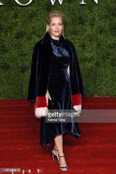 Gillian Anderson attends The Crown Season 3 world premiere at The Curzon Mayfair on November 13 2019 in London England