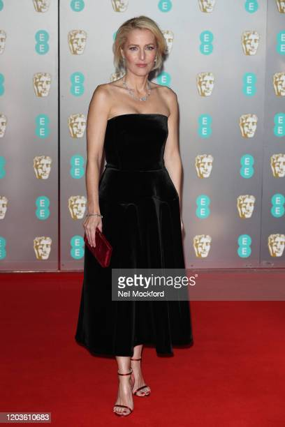 Gillian Anderson attends the EE British Academy Film Awards 2020 at Royal Albert Hall on February 02, 2020 in London, England.