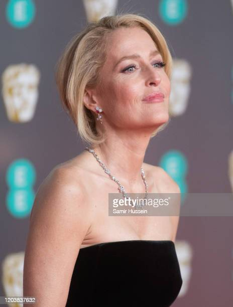 Gillian Anderson attends the EE British Academy Film Awards 2020 at Royal Albert Hall on February 02 2020 in London England