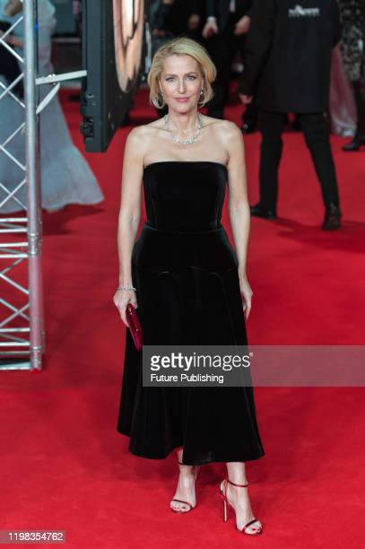 Gillian Anderson attends the EE British Academy Film Awards ceremony at the Royal Albert Hall on 02 February 2020 in London England PHOTOGRAPH BY...