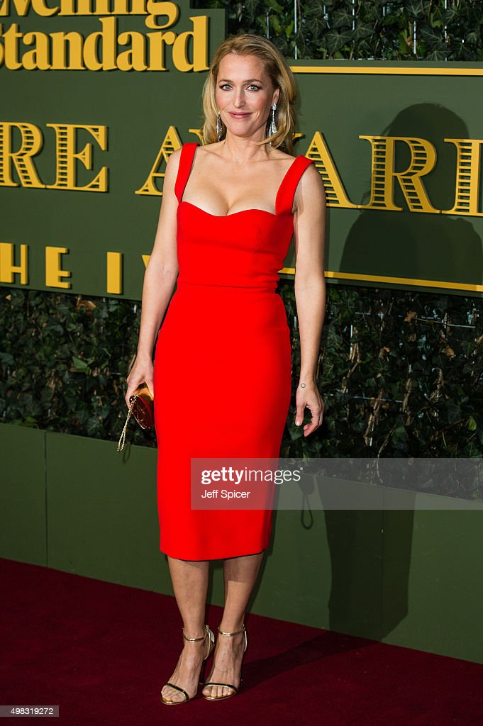 Gillian Anderson attends the Evening Standard Theatre Awards at The Old Vic Theatre on November 22, 2015 in London, England.