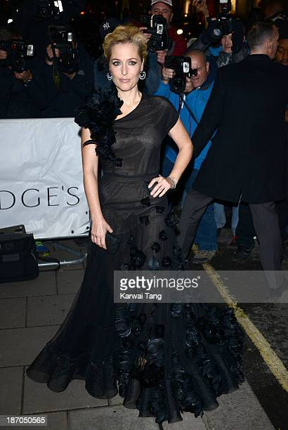 Gillian Anderson attends the Harpers Bazaar Women of the Year Awards at Claridge's Hotel on November 5 2013 in London England
