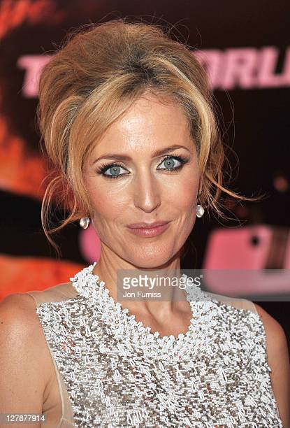 Gillian Anderson attends the 'Johnny English Reborn' UK premiere after party at Senkai on October 2, 2011 in London, England.