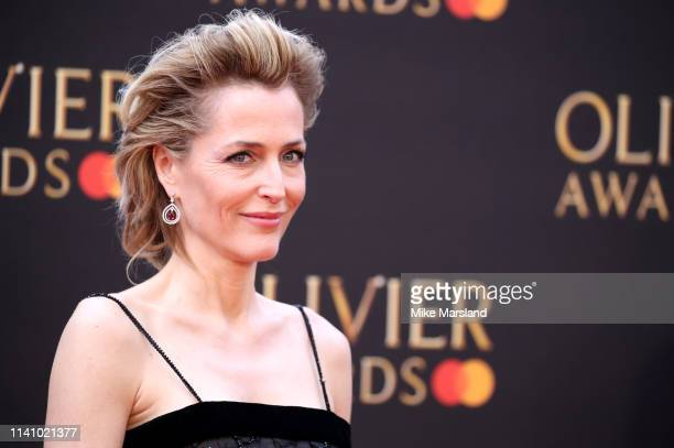 Gillian Anderson attends The Olivier Awards 2019 with MasterCard at the Royal Albert Hall on April 07 2019 in London England