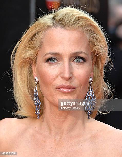 Gillian Anderson attends The Olivier Awards at The Royal Opera House on April 12 2015 in London England